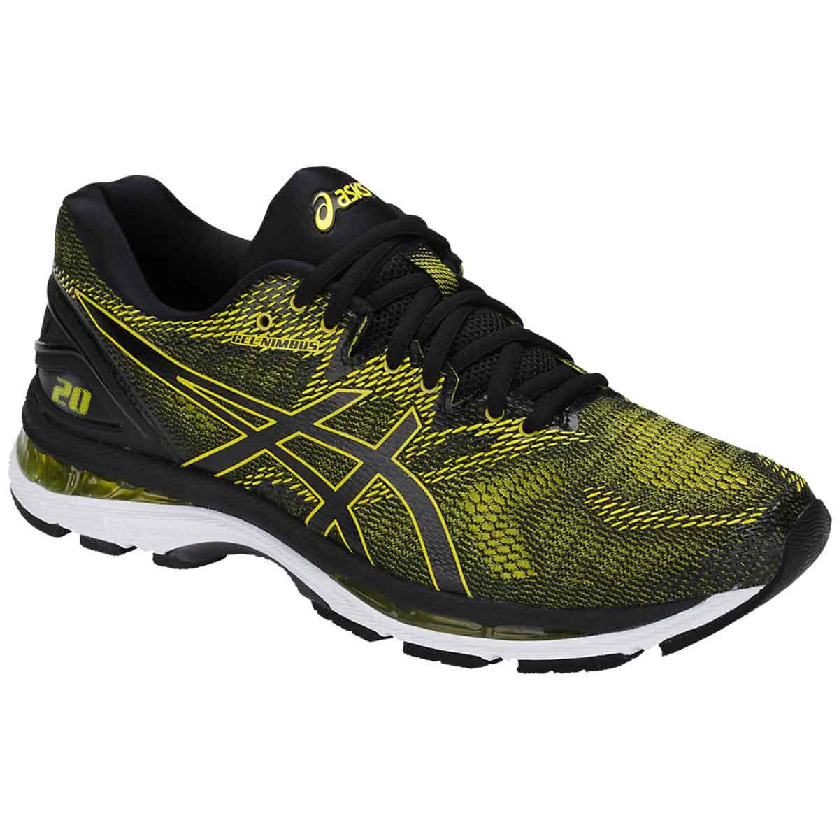 variousstyles buy complimentary shipping Asics Gel-Nimbus 20 Running Shoes (Sulphur/Black/White)