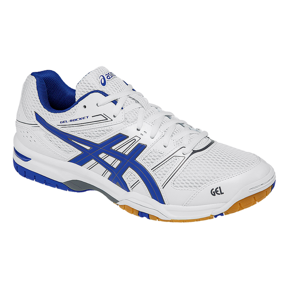 89ea43cf507d Buy Asics Gel-Rocket 7 Squash Shoes (White Blue Titanium) Online