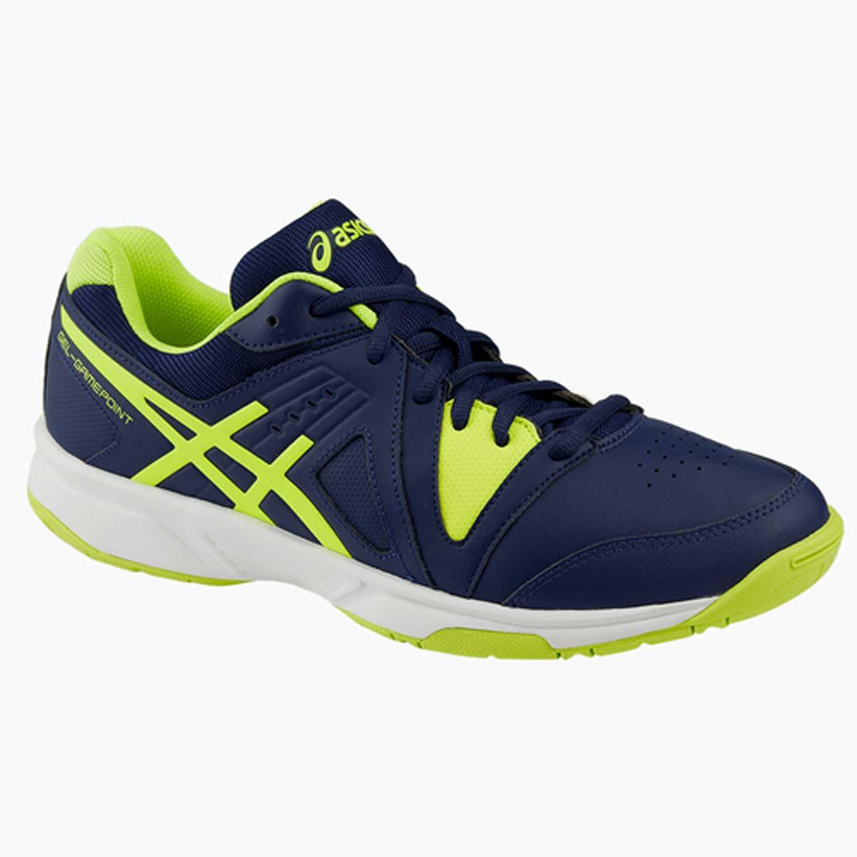 Asics Gel Gamepoint Tennis Shoes (Indigo BlueYellowWhite)