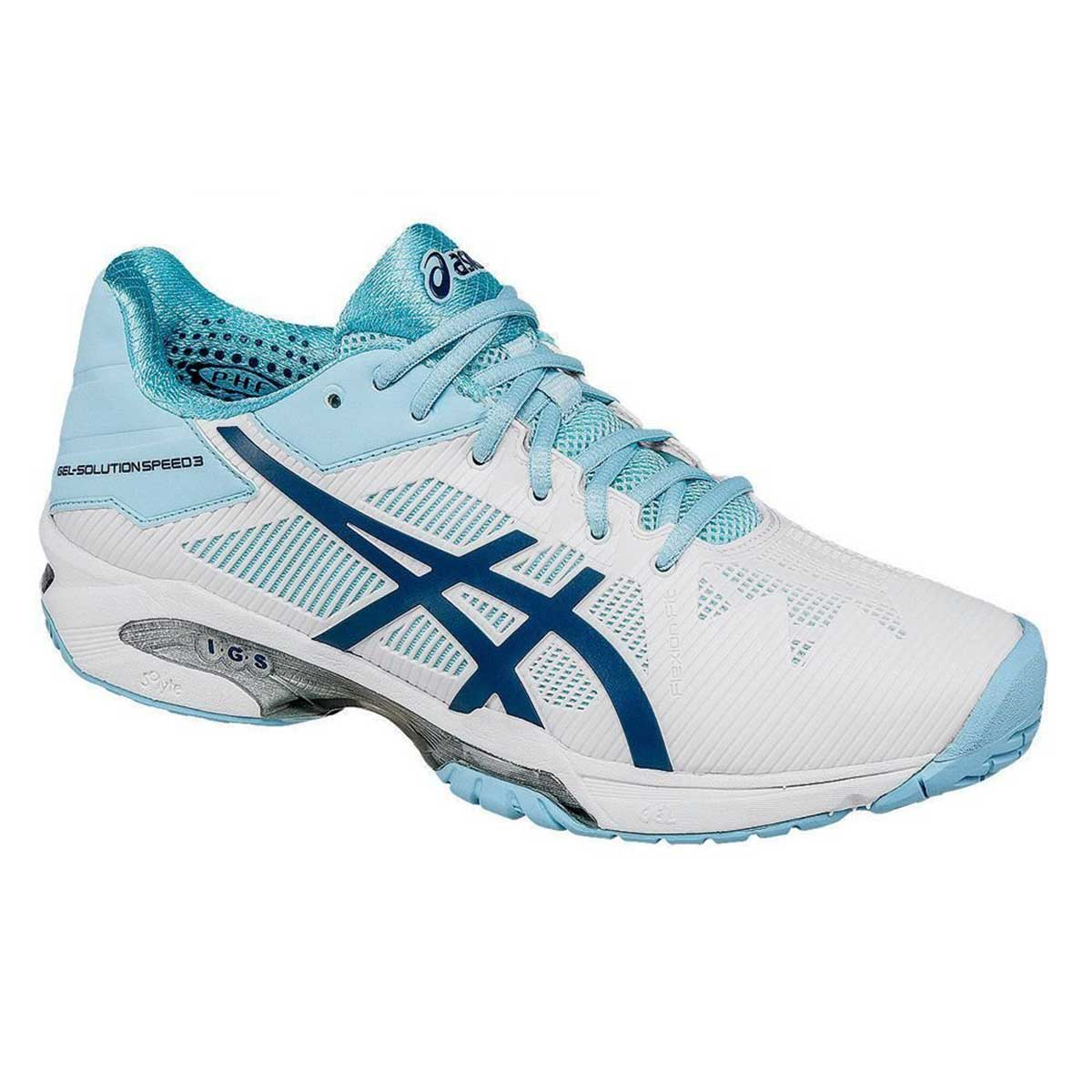 b4090d5a9f Buy Asics Gel Solution Speed 3 Women's Tennis Shoes (White/Blue) Online