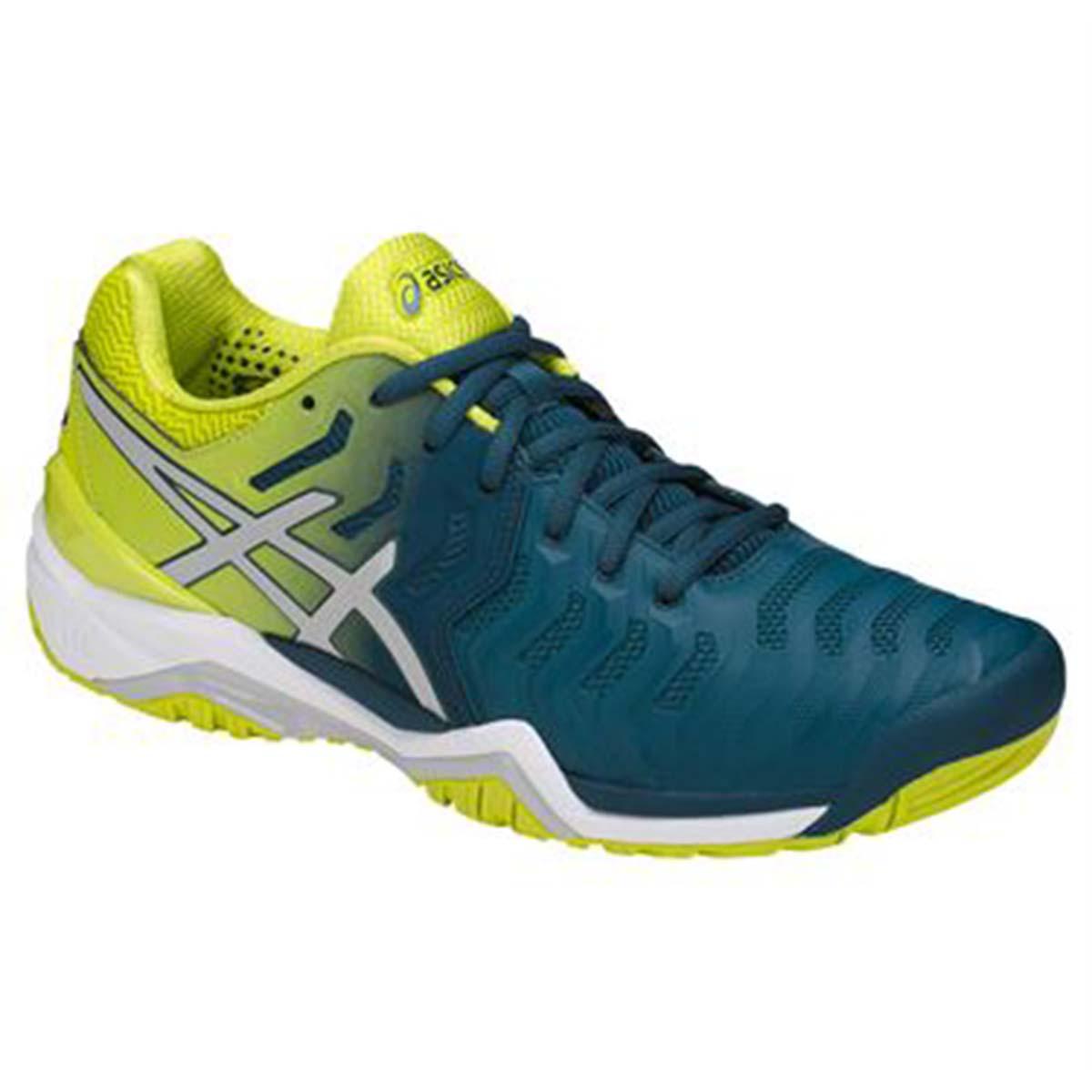 e422c75e6ab4 Buy Asics Gel Resolution 7 Tennis Shoes (Blue Sulphur White) Online