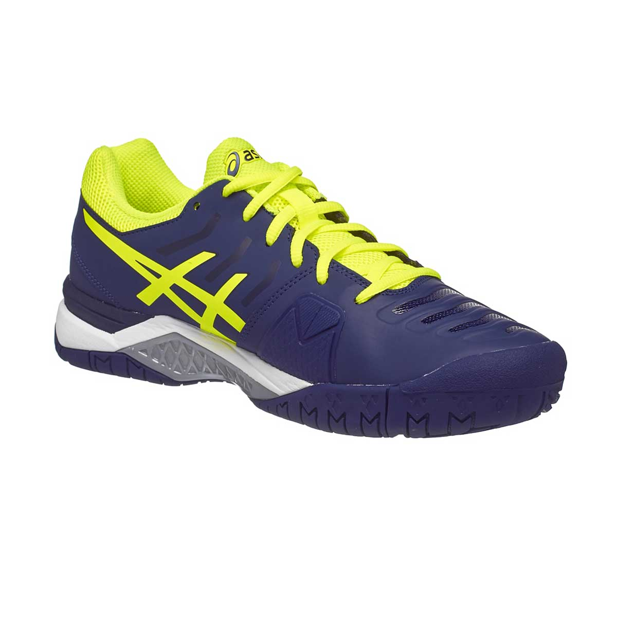 80edbb2f19b3 Buy Asics Gel-Challenger 11 Tennis Shoes (Blue Yellow Silver) Online