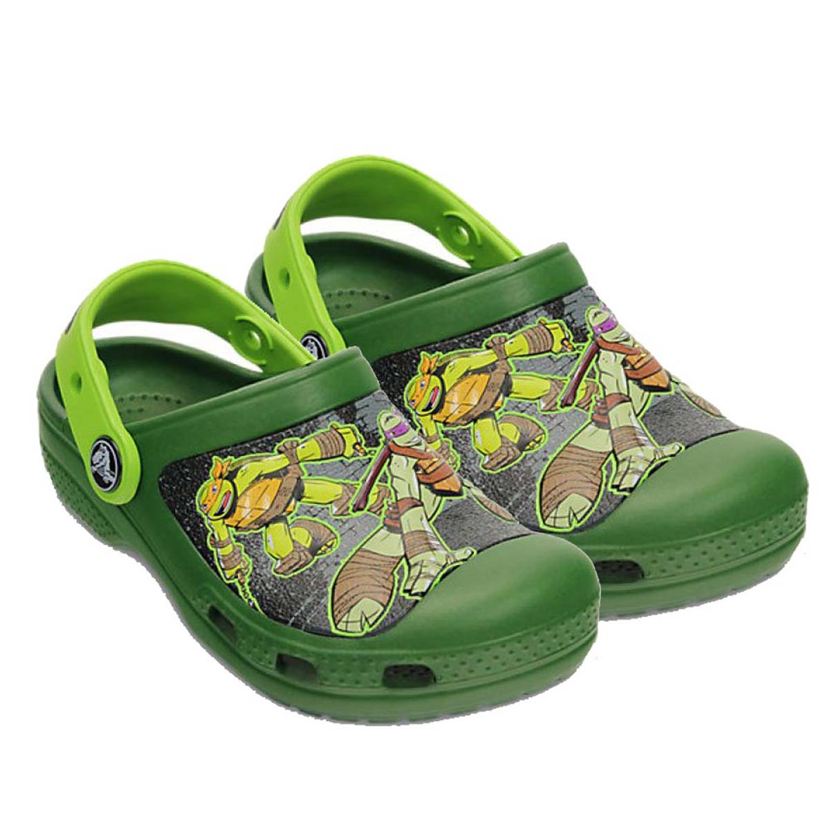 fb0477cf41d914 Crocs CC TMNT Kids Clog (Sea Volt Green)