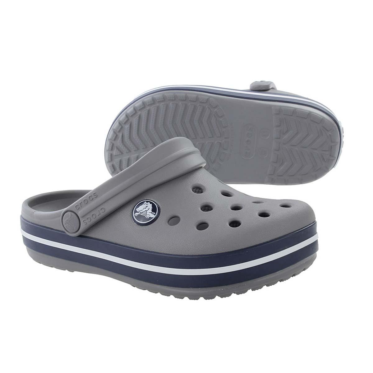cf8de4afe6f06 Crocs Crocband K Kids Clog (Smoke/Navy)