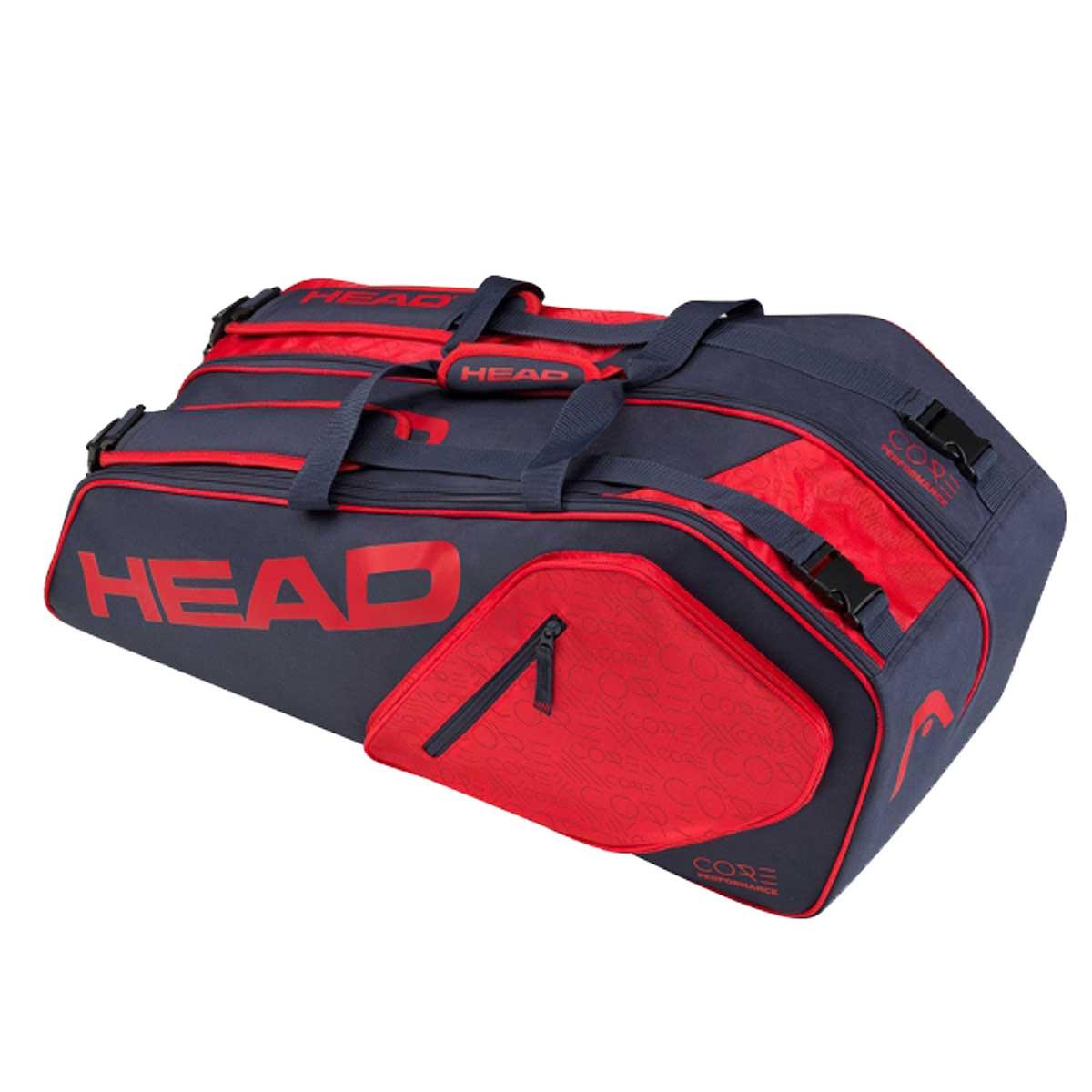 480a0a251cc7 Head Core Super Combi 9R Tennis Kit Bag (Navy Red)