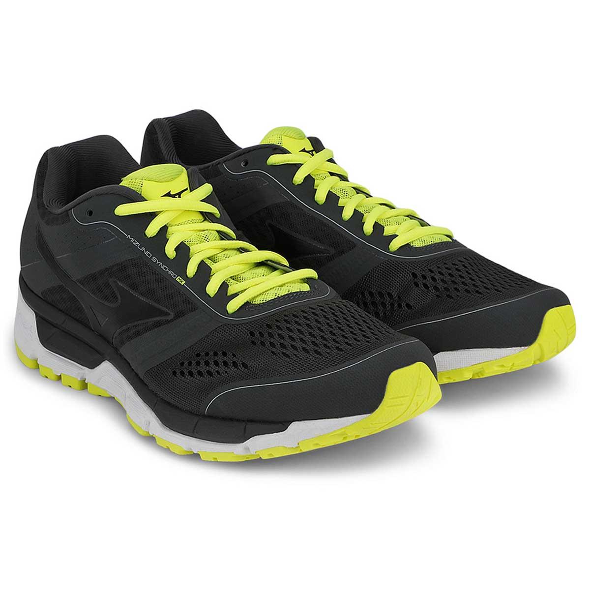 low priced f0f05 1c247 Mizuno Synchro MX Running Shoes (Grey/Black/Yellow)