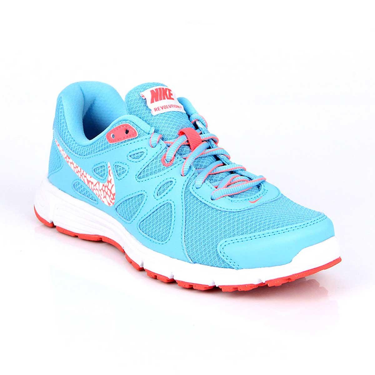 ae9b4a9e Nike Revolution 2 Womens Running Shoes (Blue/White/Pink)
