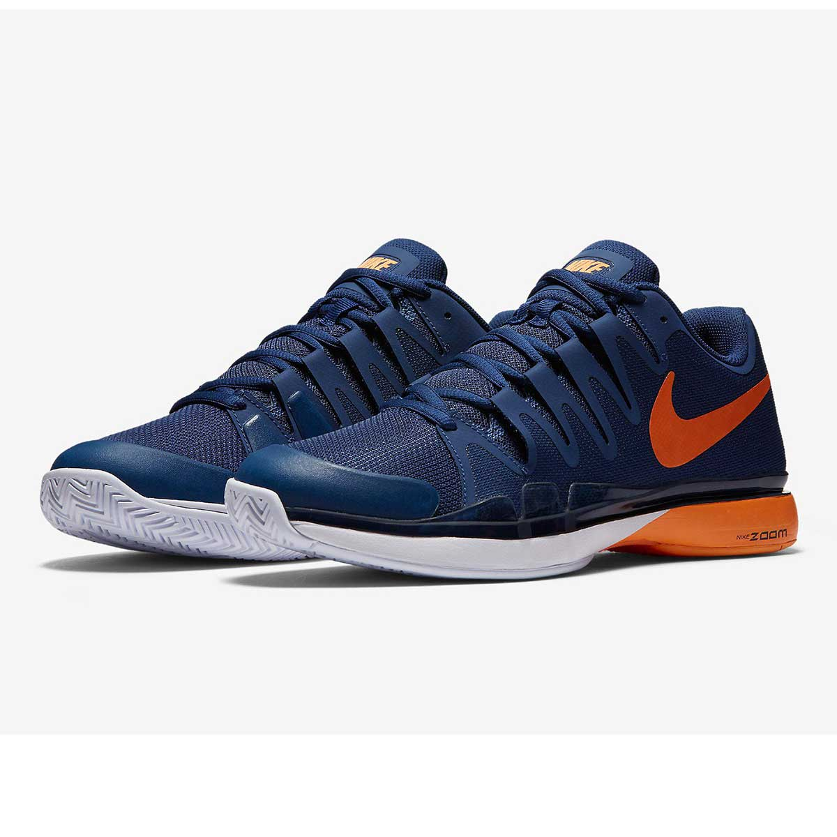 promo code f790e 92ff0 Buy Nike Zoom Vapor 9.5 Tour Tennis Shoes (Blue Bright Citrus) Online