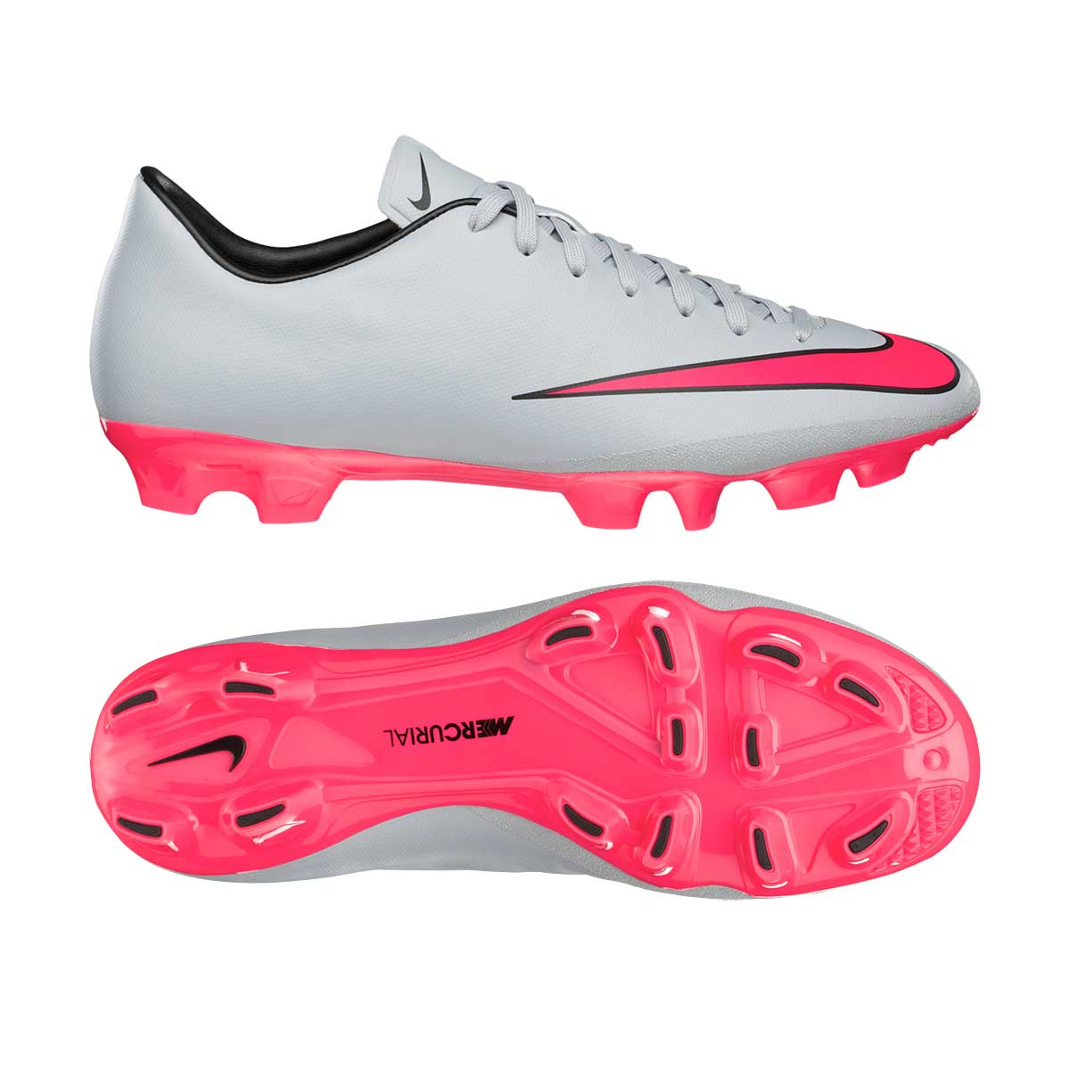 98ad41d7d853 Buy Nike Mercurial Victory V HG Football Shoes (Grey Pink Bk) Online