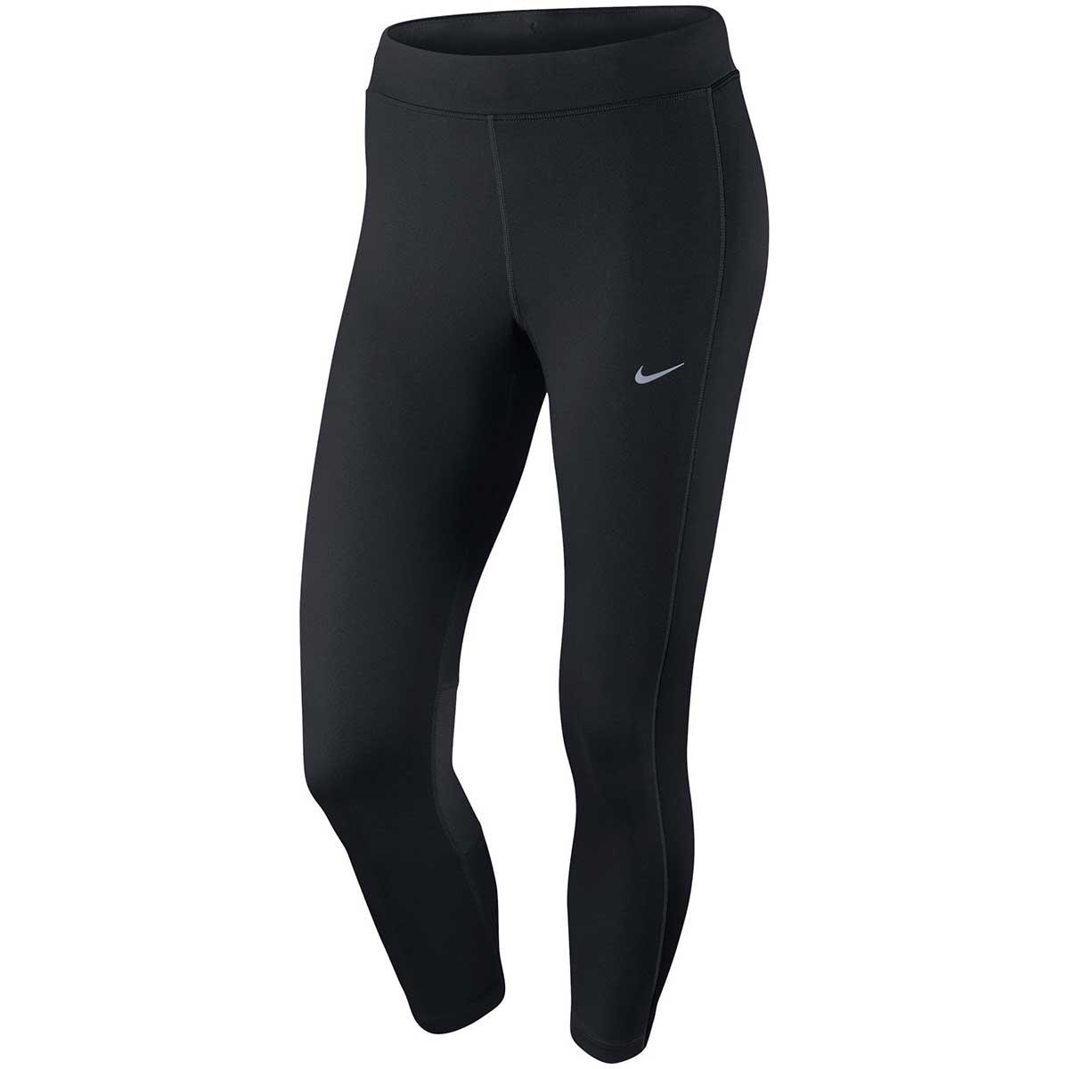 Nike Womens Power Essential Running Crop (Black)