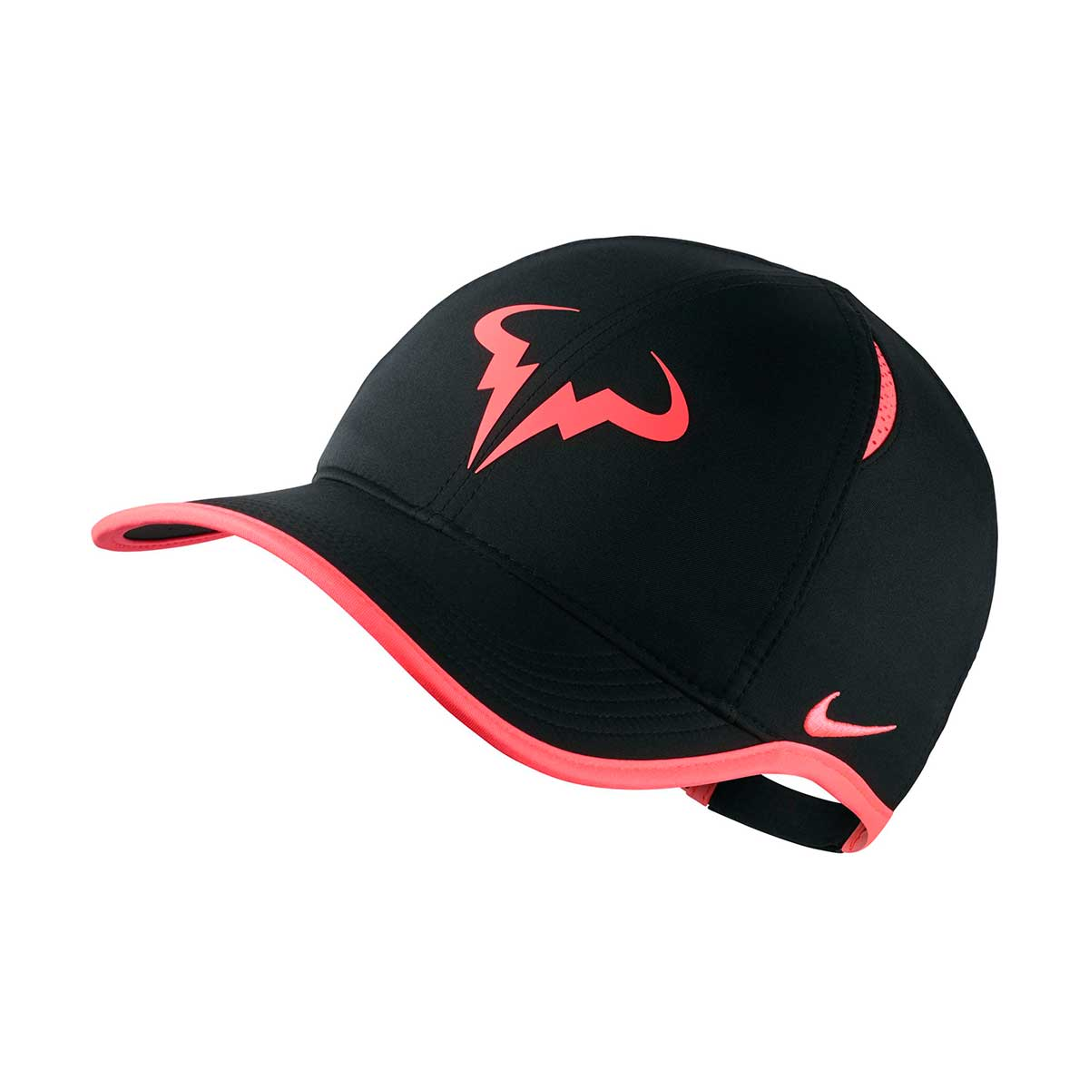 7b04efc26 Nike Rafa Feather Light Bull Cap (Black/White)