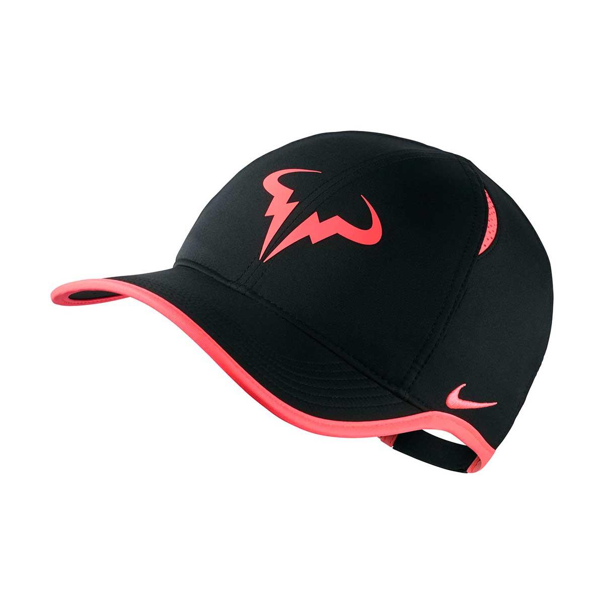 7171cba28 Nike Rafa Feather Light Bull Cap (Black/White)