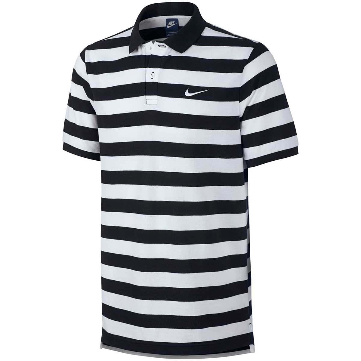 Buy Nike Men s Matchup Cotton Polo (Black White) Online India 223efaf32400