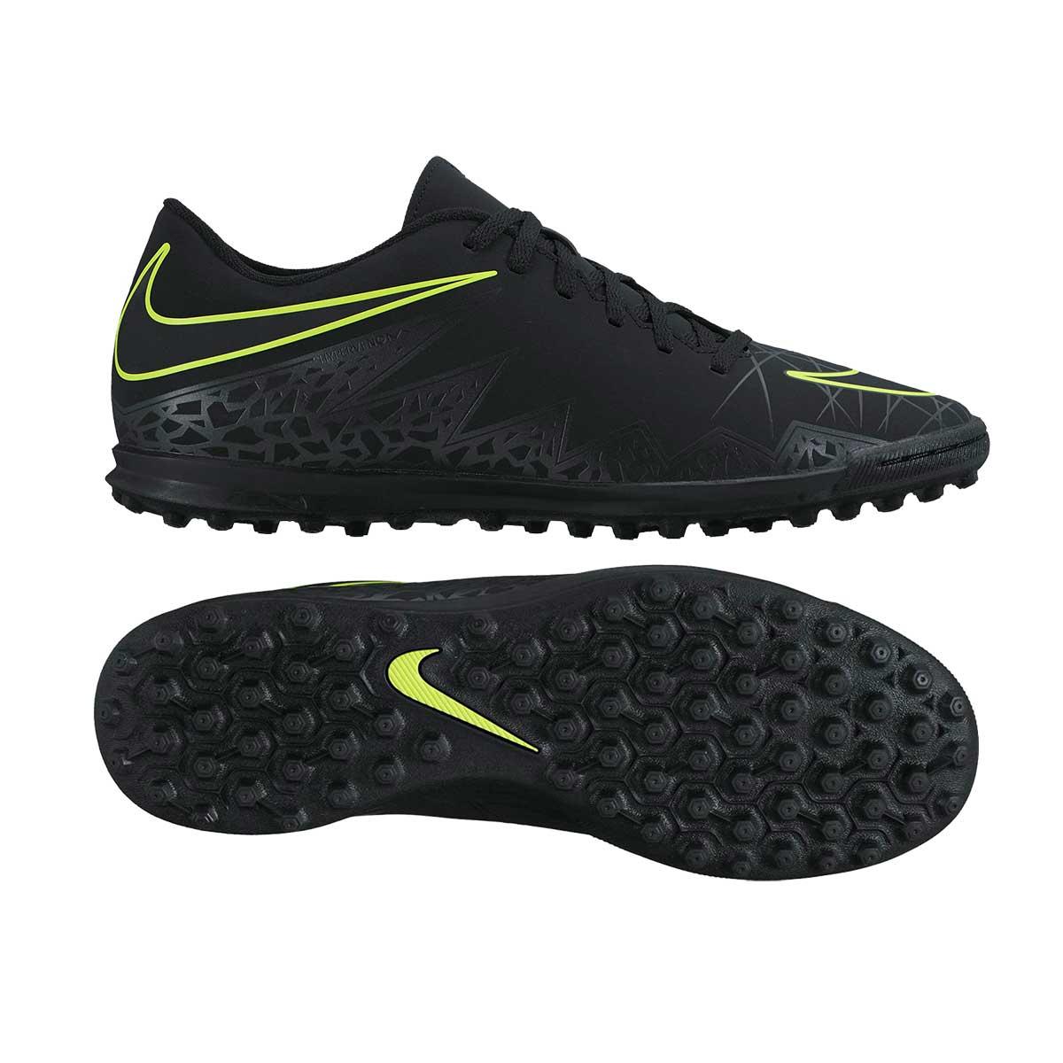 outlet store ab84d 67701 Nike Hypervenom Phade II TF Football Shoes (Black/Black Volt)