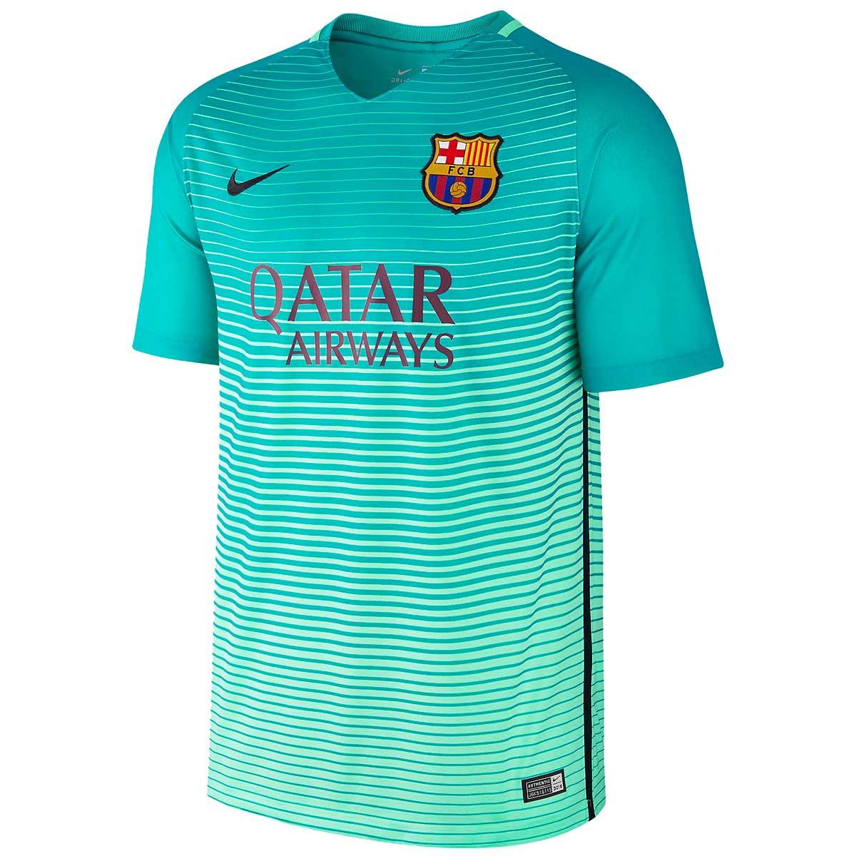 8d90da788af Buy Nike FC Barcelona Jersey 2016/17 (Green) Online in India
