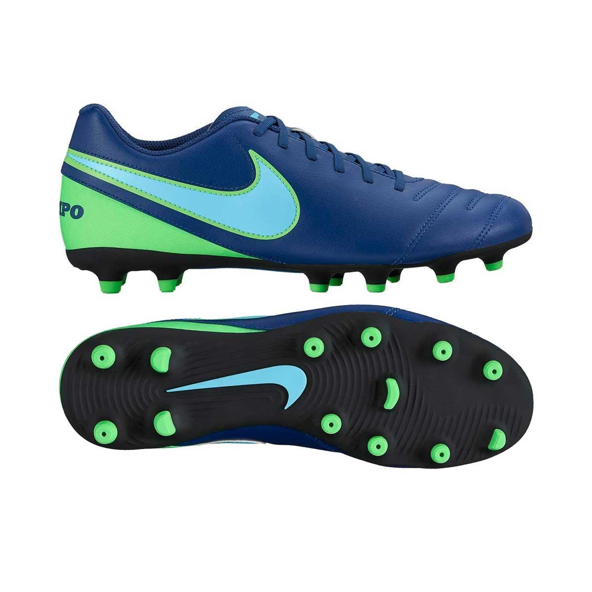 b1720bf9fdfe Buy Nike Tiempo Rio III FG Football Shoes (Coastal Blue/Blue) Online