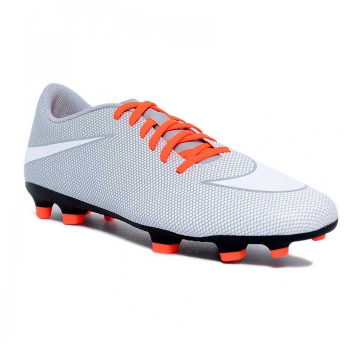 detailed look f6b3a 08b91 Buy Nike Bravata II FG Football Shoes (White Wolf Grey) Online