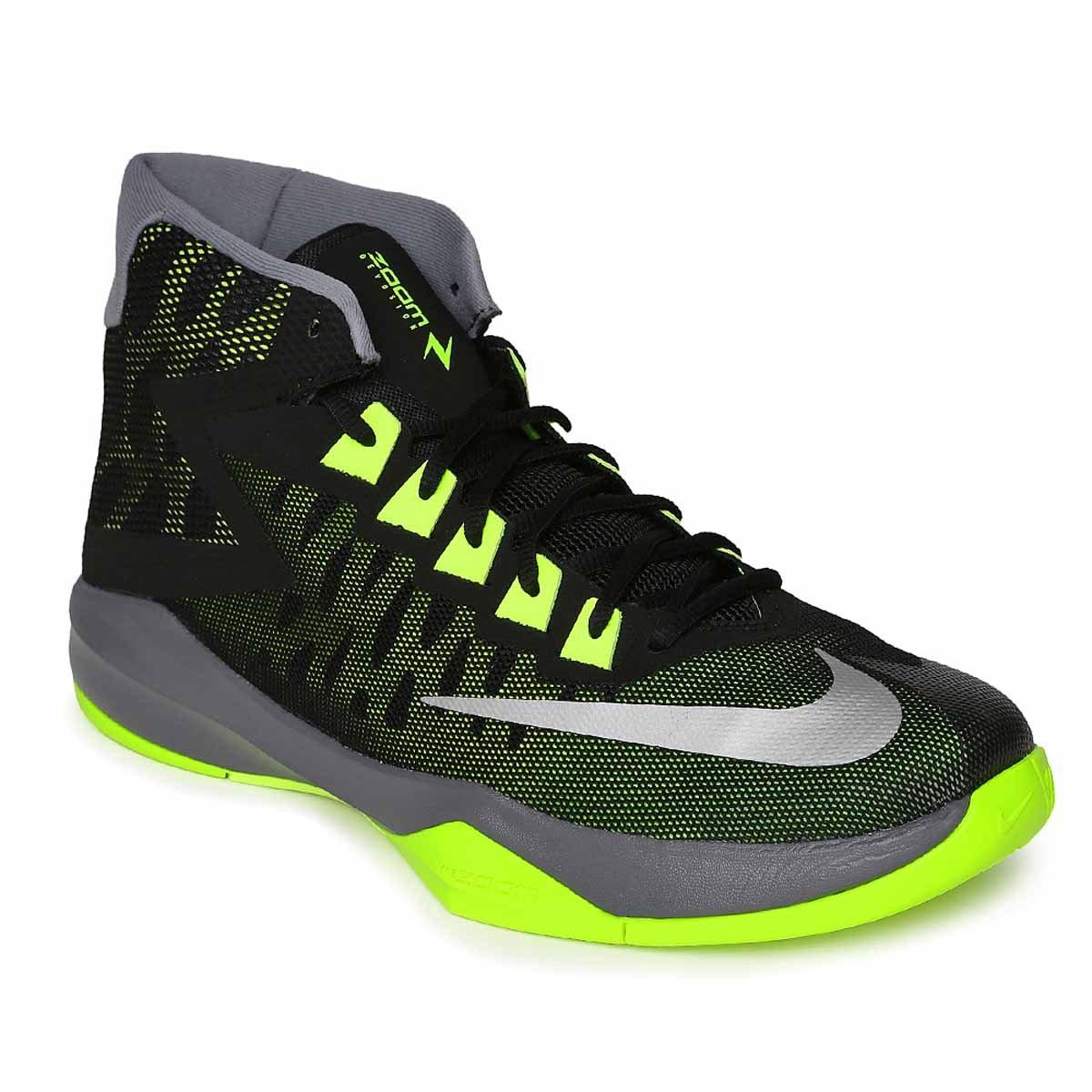 ef3c285fe195 Buy Nike Zoom Devosion Basketball Shoes (Black Silver Volt) Online