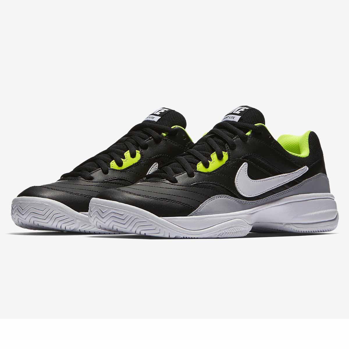 1b0be9724f860 Buy Nike Court Lite Tennis Shoes (Black/White/Volt) Online India