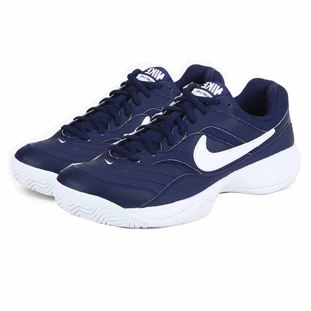 b394329c Nike Court Lite Tennis Shoes (Blue/White)