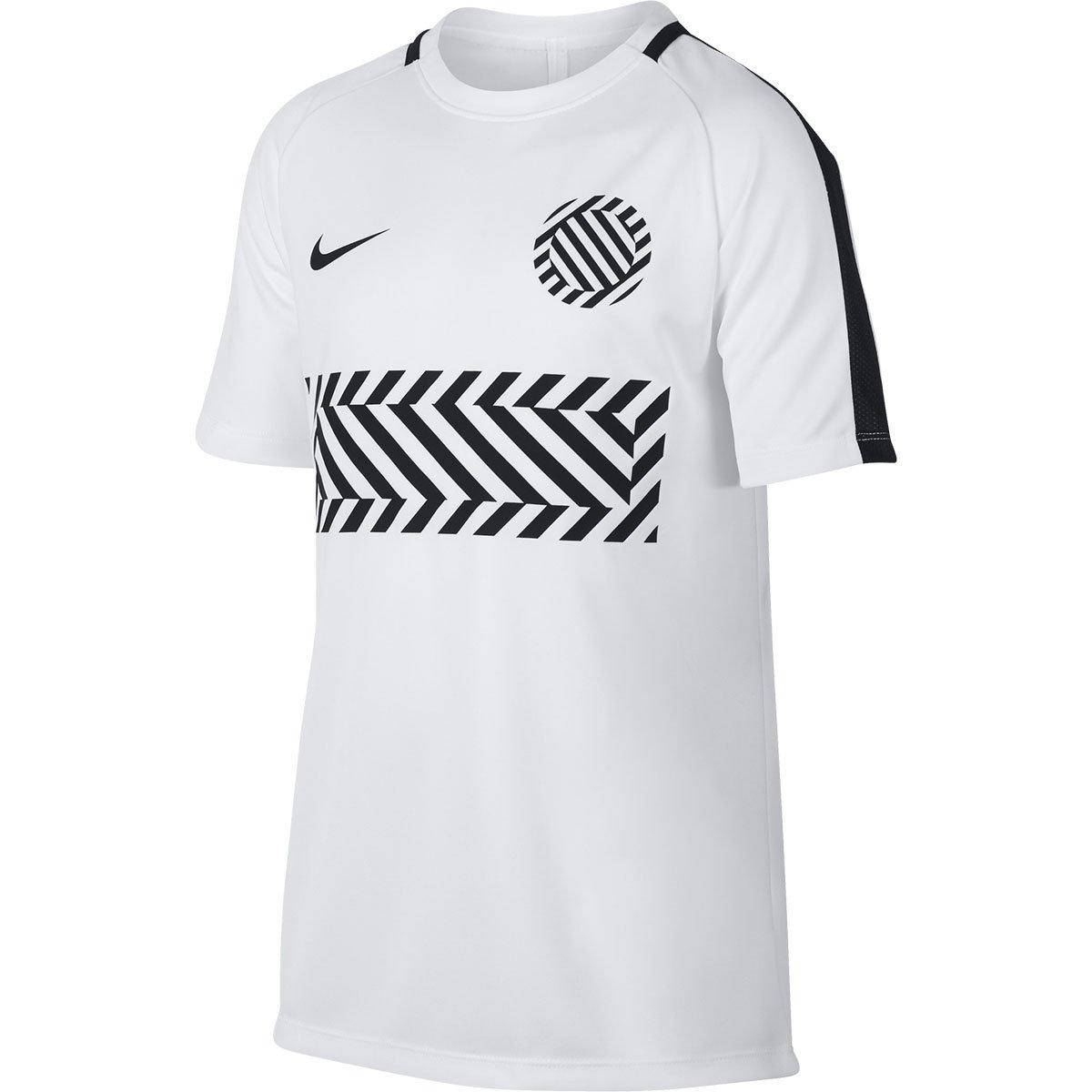 new styles 49f8c 46ffc Nike Mens Dry Academy Football T-Shirt (White/Black)