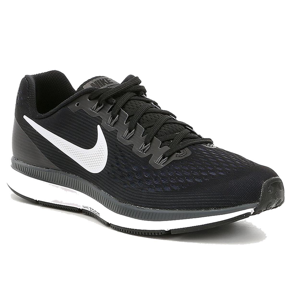 info for ec307 95a15 Nike Air Zoom Pegasus 34 Running Shoes (Black/White/Grey)