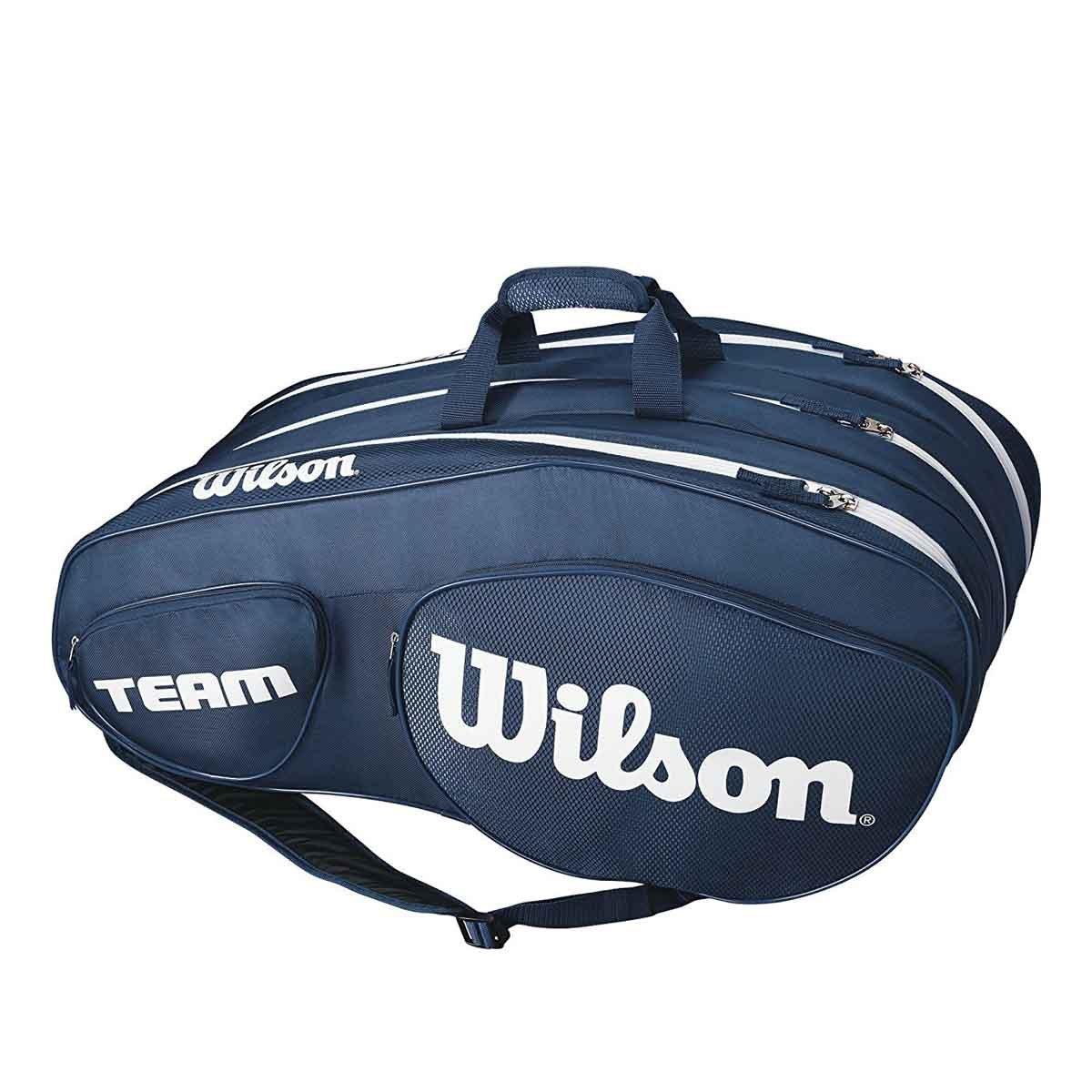 da448cd931e Buy Wilson Team III 12 Pack Tennis Kit Bag (Blue/White) Online