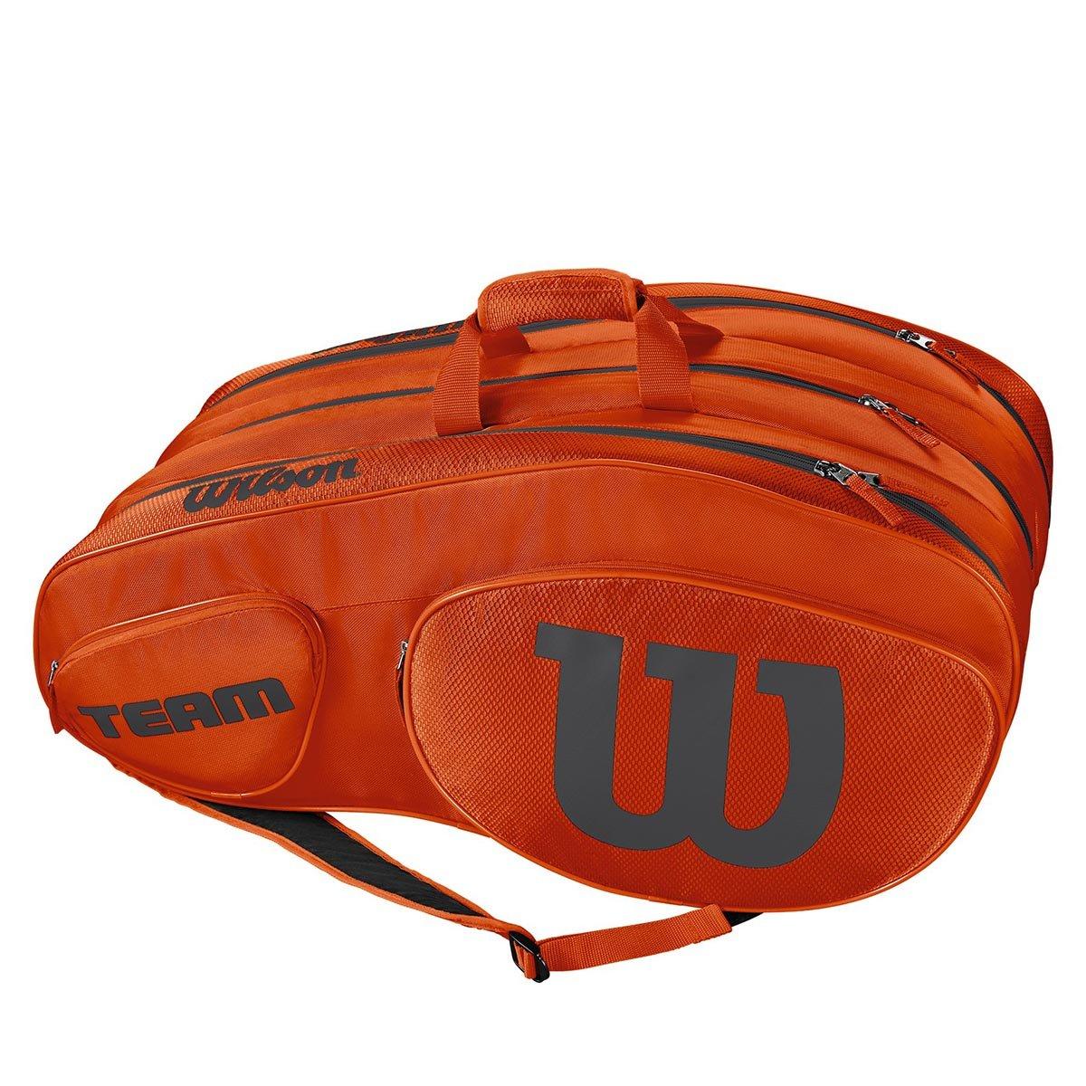 a78b7419dac Buy Wilson Team III 12 Pack Tennis Kit Bag (Orange/Grey) Online