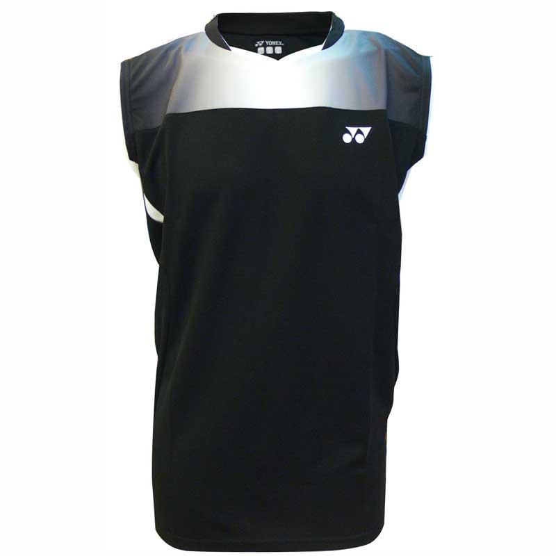 Buy Yonex Men s Sleeveless T-Shirt (Black - 12077) Online India 1141a685dd29