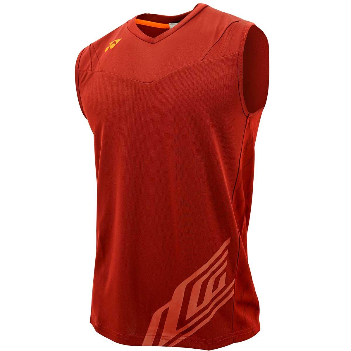 b5d606ee80ee4 Buy Yonex LCW Mens Sleeveless Shirt (10000 - Rhubarb) Online