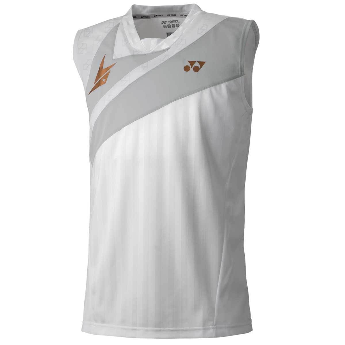82f717511cb1a Buy Yonex Lin Dan Men s Sleeveless Shirt (White) Online India