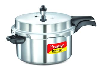 Pressure Cookers, Cookware, Bake & Cook, Prestige, Prestige Deluxe plus Induction Base Aluminium Pressure cooker : 7.5  litre