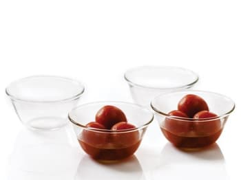 Glass and Glass Trays, Dinnerware, Dinnerware & Storage, Borosil, Borosil Venus Glass Katories - IW11KT17006