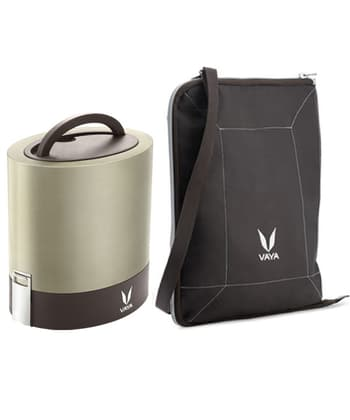 Tiffins, Storage, Dinnerware & Storage, Vaya, Vaya Tyffyn 1000 ml Graphite With Bagmat - LB00100SS01
