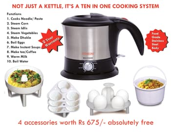 Idly or Dhokla Cooker, Cookware, Bake & Cook, Clearline, Clearline Multicook - 10 in 1 Cooking System