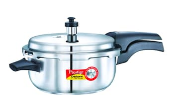 Pressure Cookers, Cookware, Bake & Cook, Prestige, Prestige Deluxe Aplha Induction Based Stainless Steel Deep Pan