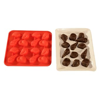 Baking Moulds, Bakeware, Bake & Cook, HELPING HAND, Helping Hand Silicon Shell Chocolate 16 cavaity
