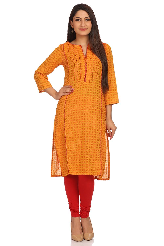 4583f34ad17 Buy Online Yellow Straight Cotton Kurta for Women at Best Price at  Rangriti.com -RMMKANTHA2528YELL