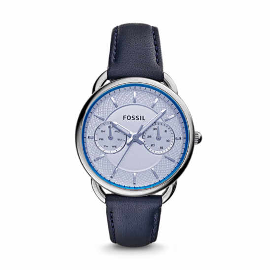 Unisex, Watches, Fossil, Tailor Multifunction Blue Leather Watch ,  ,  ,  ,  ,  ,  ,  ,  ,  ,  ,  ,  ,