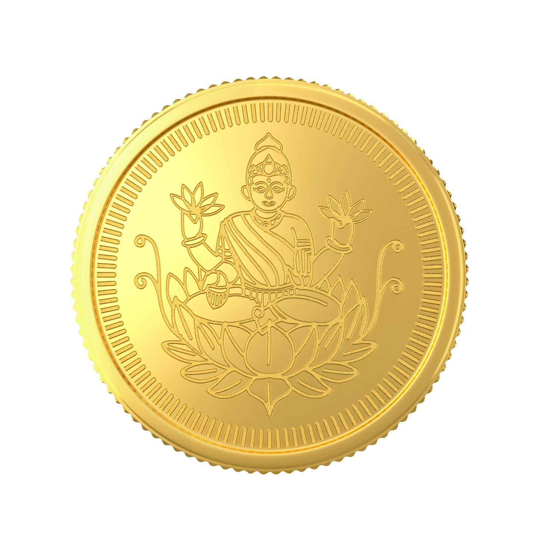 1 Gram (22 Kt) Lakshmi Gold Coin   Model No: 2022A1GH10