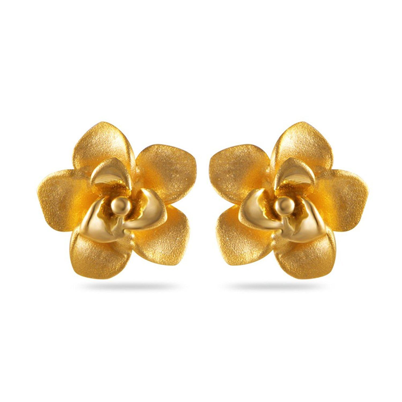 888c0f714 Earring, Flower Design Gold Earring 22kt Purity