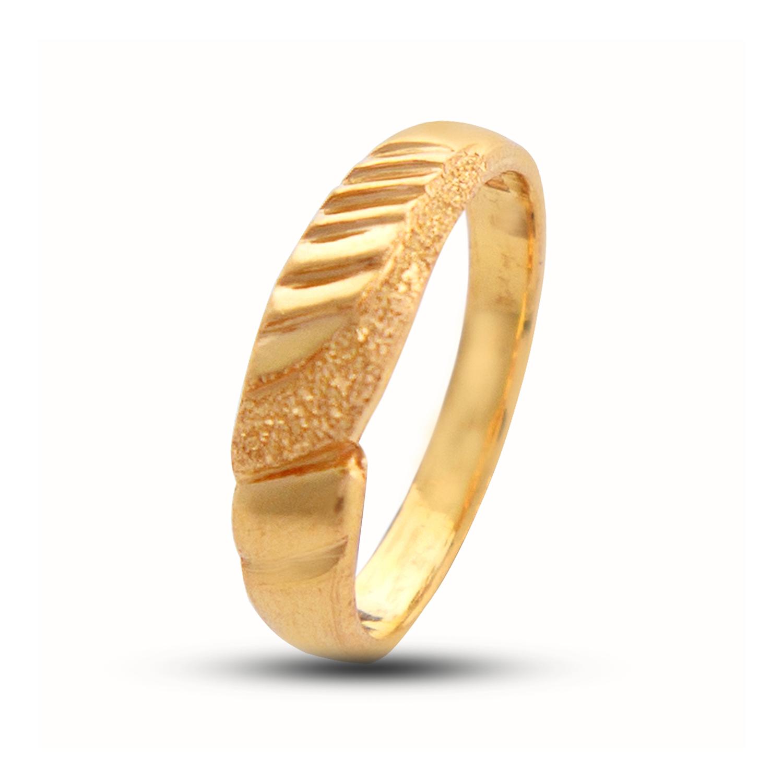 Gold Rings Simple Swirl Wedding Band