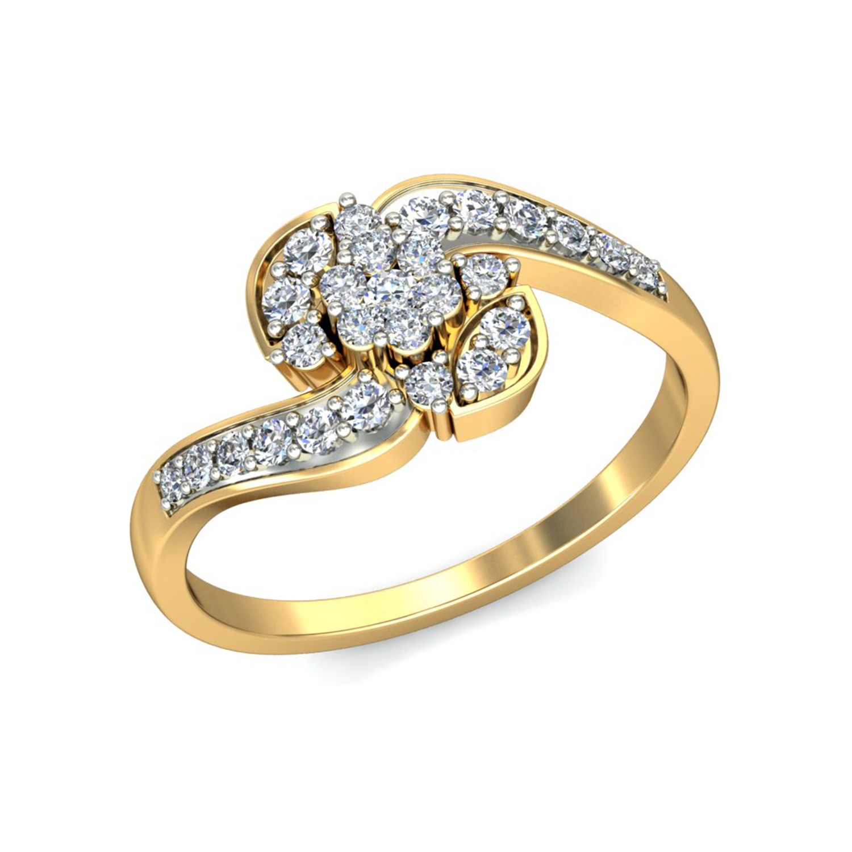 Diamond Rings Designer Swirl Wedding Band