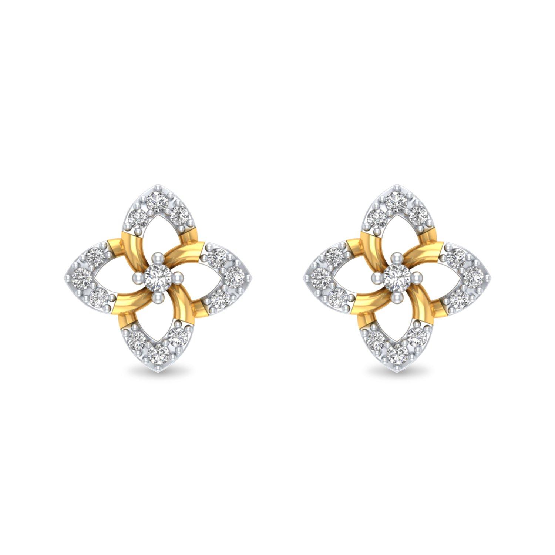 10a9f7454 Diamond Studs, Bloomy Diamond Earrings
