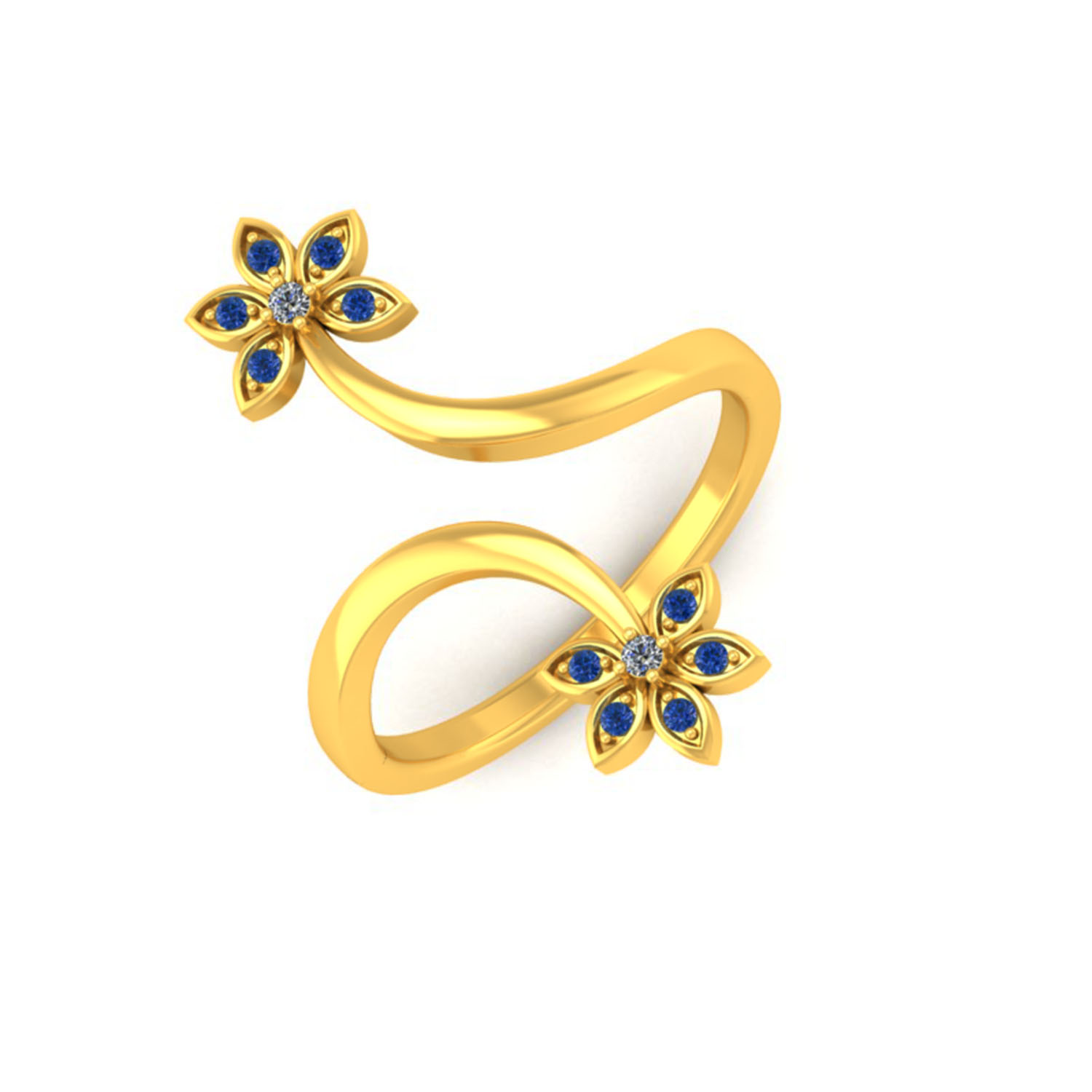 Adjustable coloured stone Ring