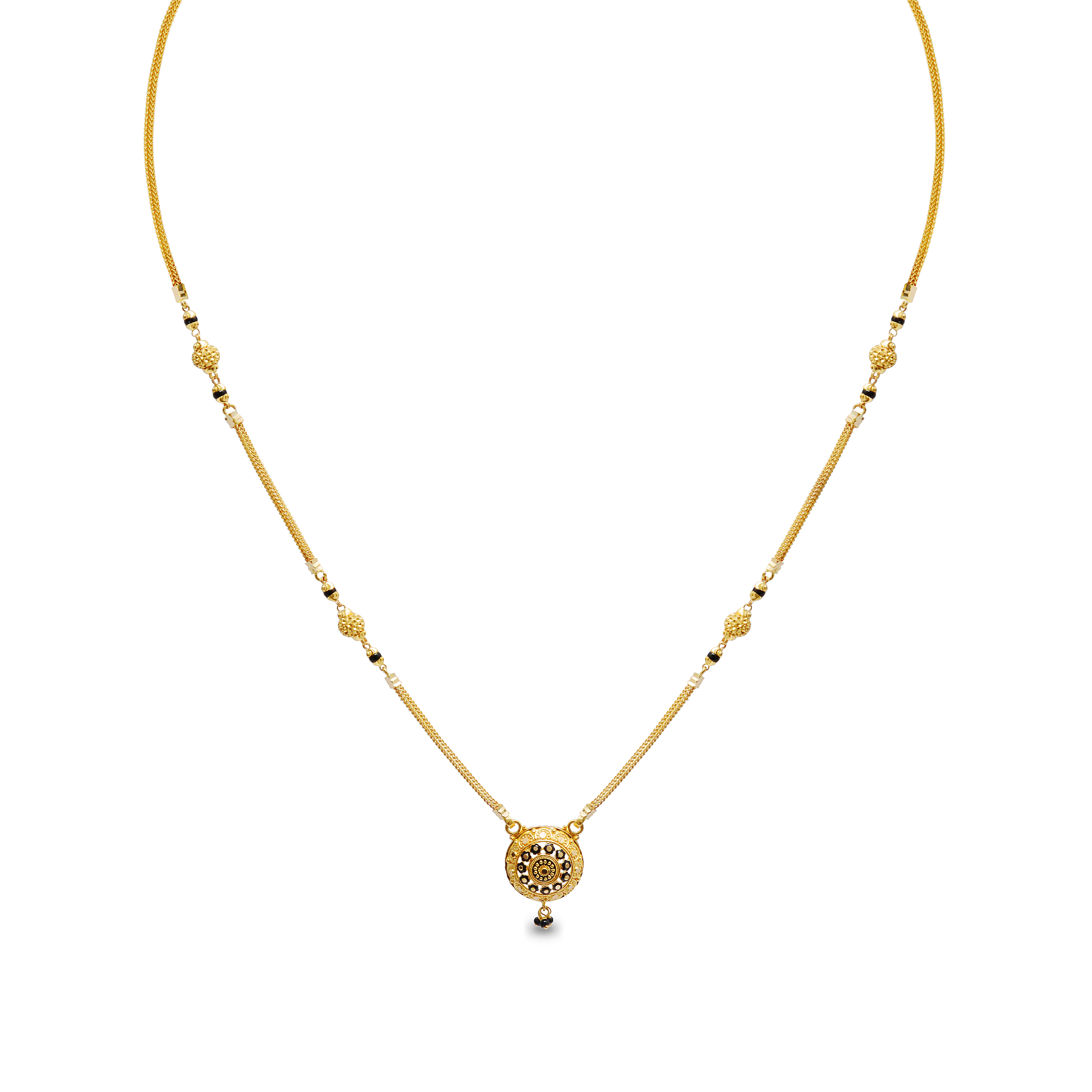 ee1d146c014fb Anindita Short Fancy Gold Mangalsutra