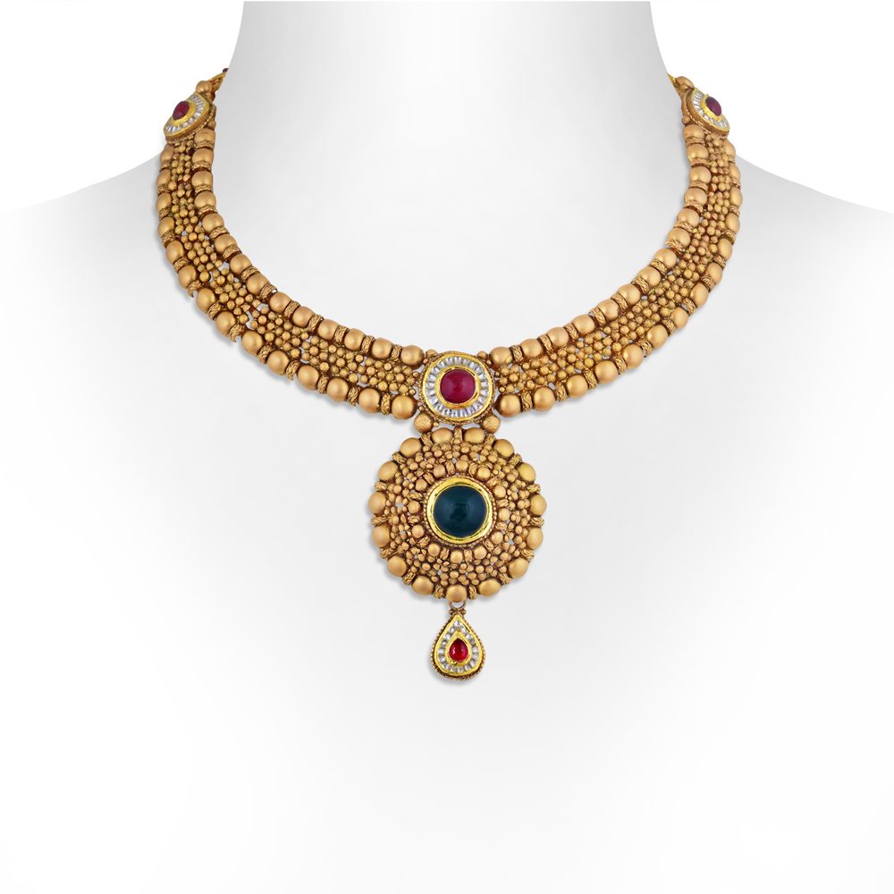 Gold Necklace Simple Gold Kundan Necklace