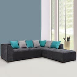 L Shaped Sofas Roland Fabric L Shape Sofa Right Gry Light Grey