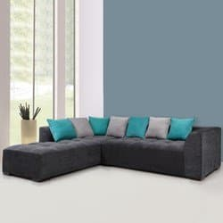 L Shaped sofas, Roland Fabric L-Shape Sofa Left-Gry/Light Grey ...