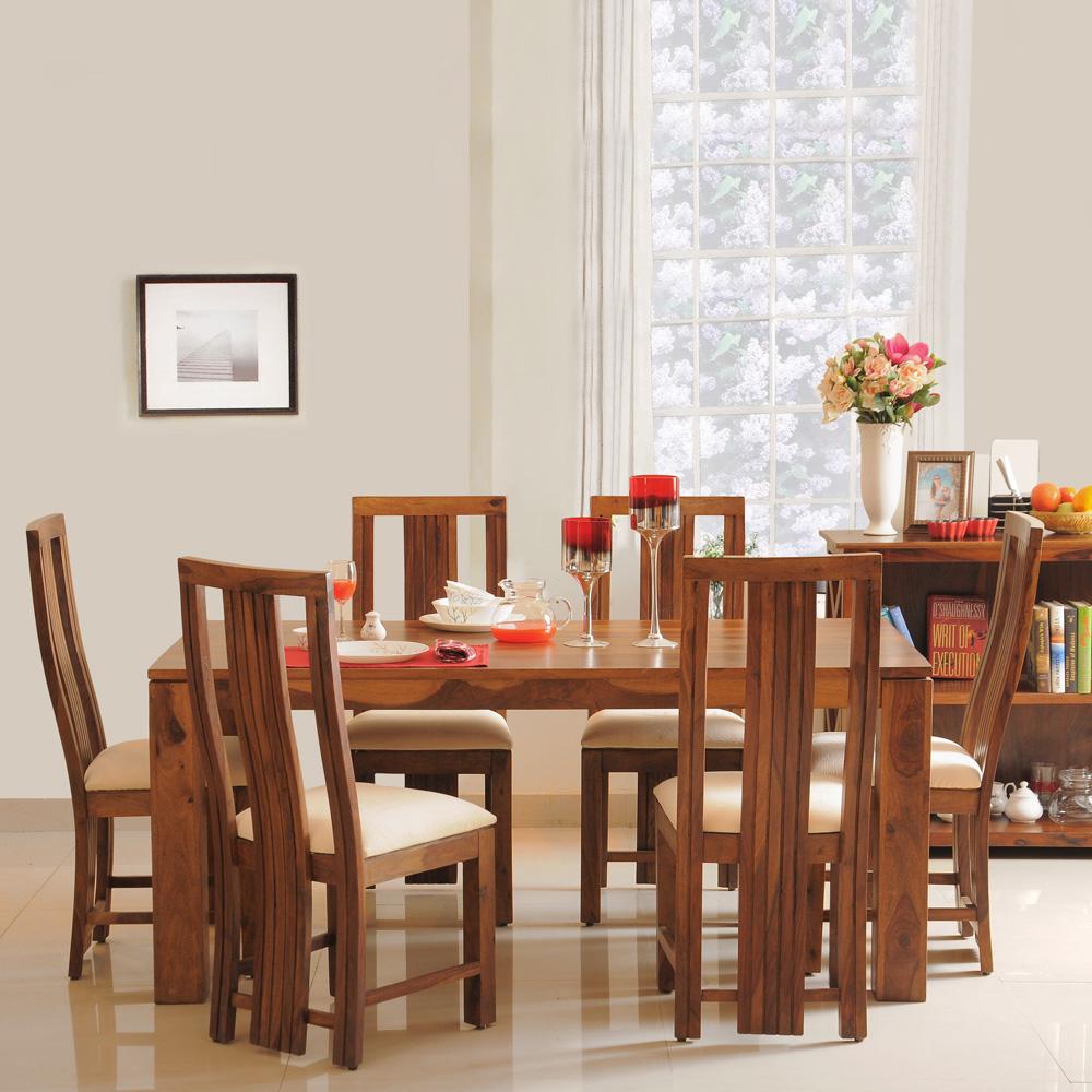 Della Six Seater Dining Set in Brown Colour f7fdf9327